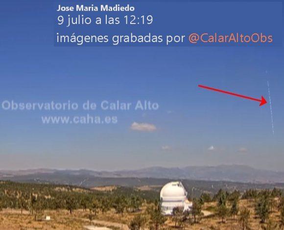 Luces en el cielo en el Sur de España