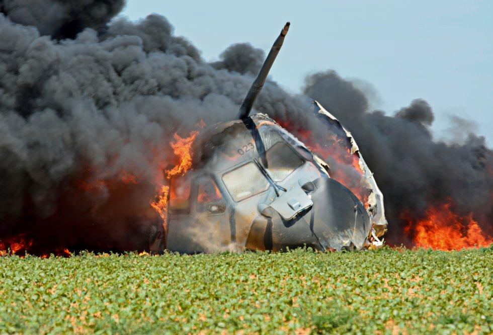 Las inéditas y duras imágenes del accidente del Airbus A400M en Sevilla en 2015