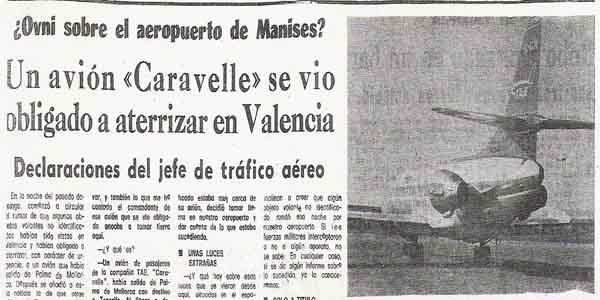 Caso Manises: El primer avión comercial de la historia desviado por un OVNI