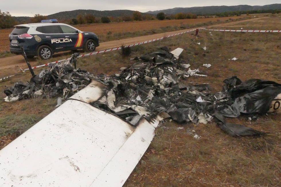 AESA y el misterioso accidente de Teruel: La matrícula del avión era falsa